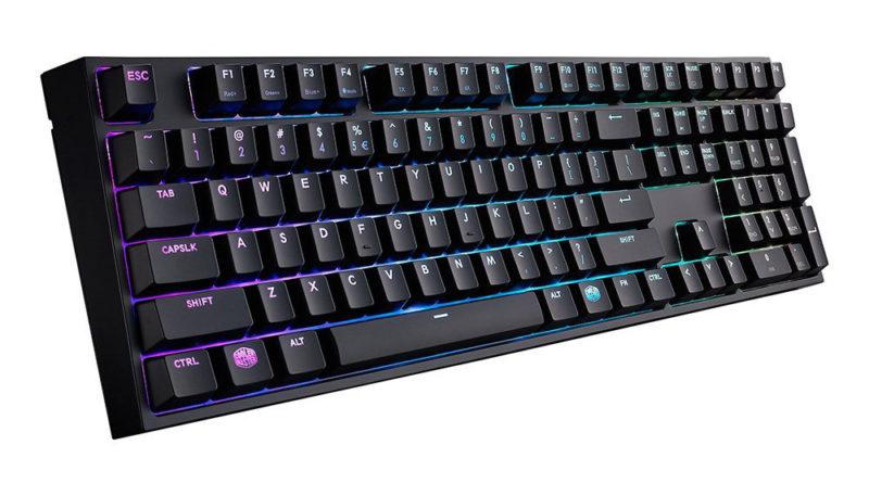 Cooler Master Keys Pro L RGB Mechanical Gaming Keyboard Full Size RGB LED Cherry MX Blue Large