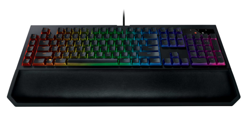 Razer BlackWidow Chroma with Wrist Rest Front