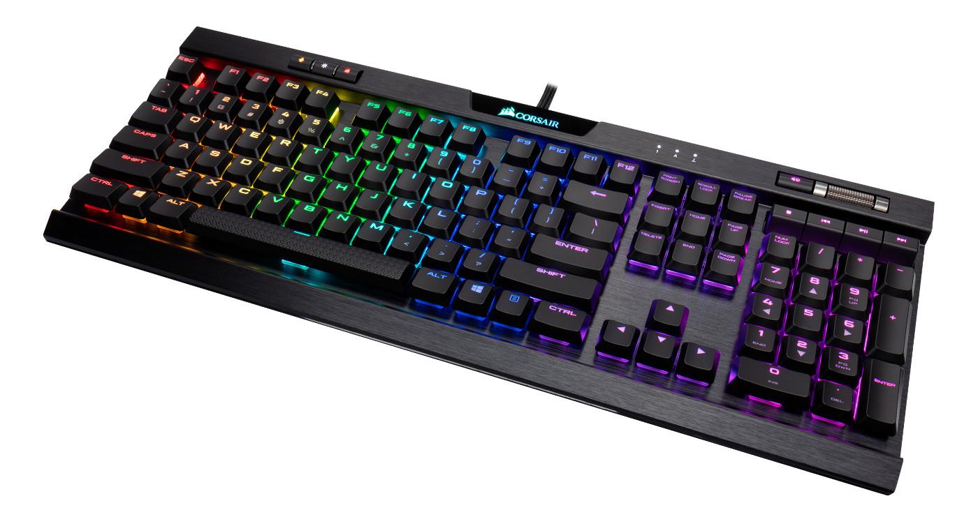 Cherry MX Speed RGB LED Backlit USB Passthrough /& Media Controls Fastest /& Linear CORSAIR K70 RGB RAPIDFIRE Mechanical Gaming Keyboard