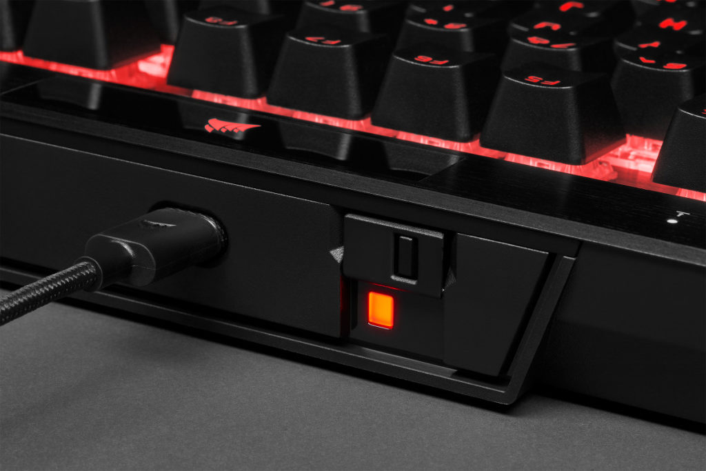 K70 RGB TKL: with tournament switch and detachable cable