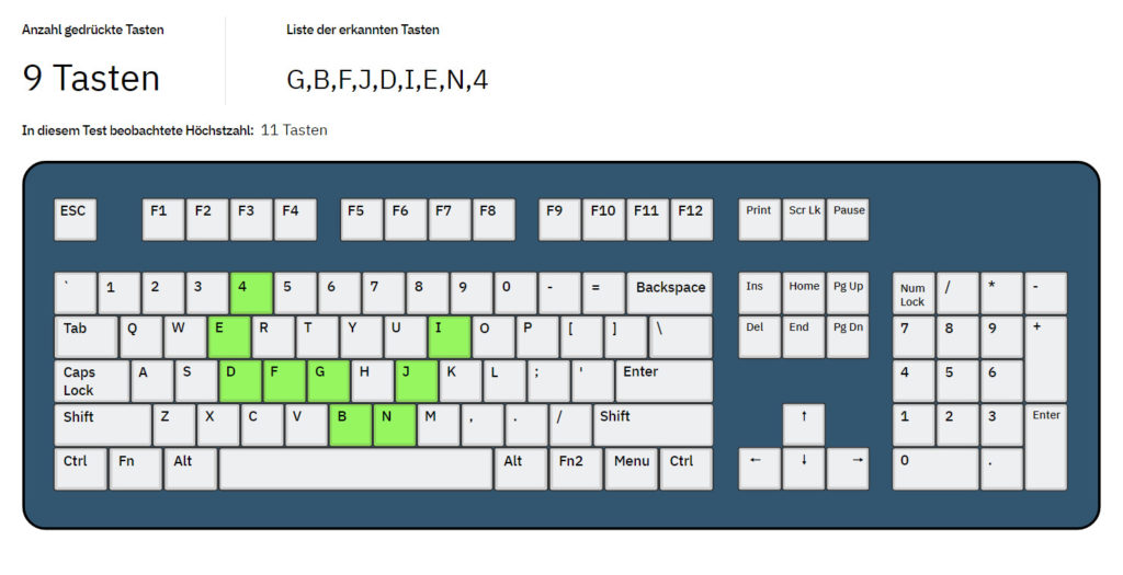 Screenshot: Key-Rollover-Test