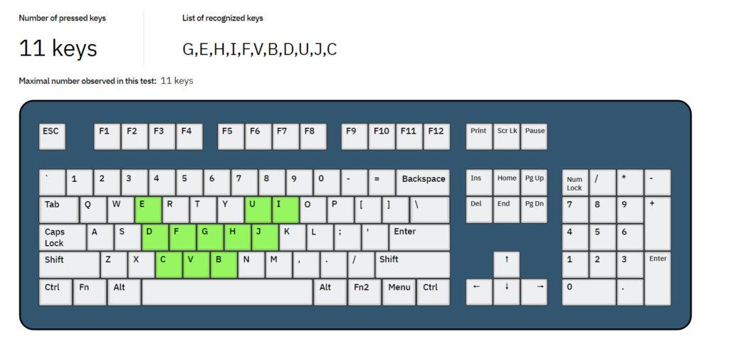 Screenshot: Key Rollover Test